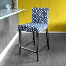 Load image into Gallery viewer, IKEA HENRIKSDAL Bar Stool Chair Cover, Navy Rope Print