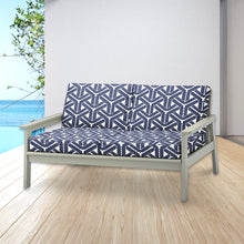 Load image into Gallery viewer, IKEA HENRIKSDAL Dining Chair Cover, Coastal Navy Rope Print