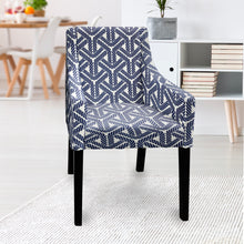 Load image into Gallery viewer, IKEA SAKARIAS Dining Chair Cover, Navy Blue Rope Print