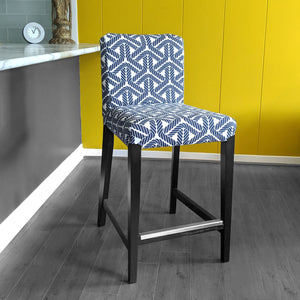 IKEA HENRIKSDAL Bar Stool Chair Cover, Navy Rope Print