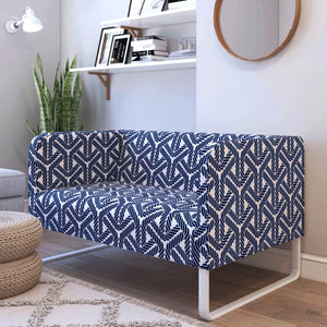 Navy Blue Rope Print IKEA KNOPPARP Sofa Cover
