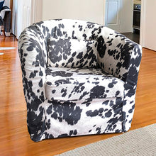 Load image into Gallery viewer, IKEA TULLSTA Chair Slip Cover, Black Faux Cow Hide