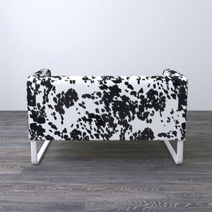 Black Cow Print Knopparp Cover