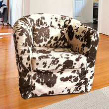 Load image into Gallery viewer, IKEA TULLSTA Chair Slip Cover, Dark Brown Faux Cow Hide