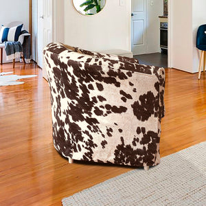 IKEA TULLSTA Chair Slip Cover, Dark Brown Faux Cow Hide
