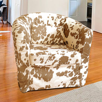 IKEA TULLSTA Chair Slip Cover, Light Brown Faux Cow Hide