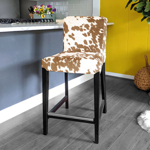 Cow Light Brown, IKEA HENRIKSDAL Bar Stool Chair Cover