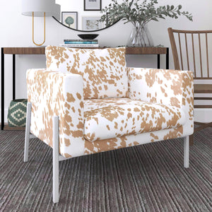 IKEA KOARP Armchair Covers, Light Brown Cow Animal Print