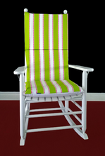 Load image into Gallery viewer, Green Stripe Rocking Chair Pad