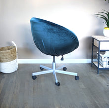Load image into Gallery viewer, Navy Blue Velvet IKEA SKRUVSTA Chair Slip Cover