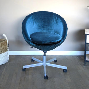 Navy Blue Velvet IKEA SKRUVSTA Chair Slip Cover