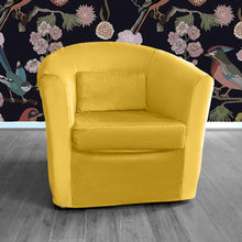 Load image into Gallery viewer, Velvet Gold IKEA TULLSTA Chair Cover