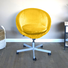 Load image into Gallery viewer, Velvet Gold IKEA SKRUVSTA Chair Slip Cover