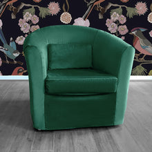 Load image into Gallery viewer, Dark Green Velvet IKEA TULLSTA Chair Cover