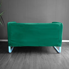 Load image into Gallery viewer, IKEA KNOPPARP Slip Cover, Green Velvet