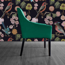Load image into Gallery viewer, Dark Green Velvet IKEA SAKARIAS Dining Chair Cover