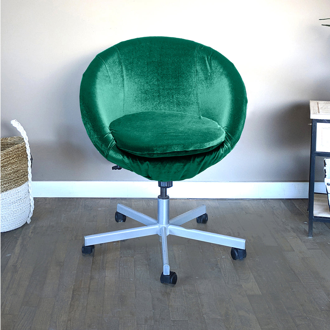 Velvet Green IKEA SKRUVSTA Chair Slip Cover