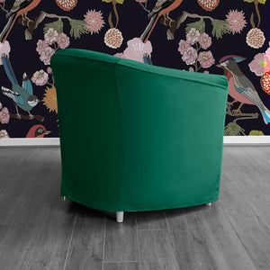 Dark Green Velvet IKEA TULLSTA Chair Cover
