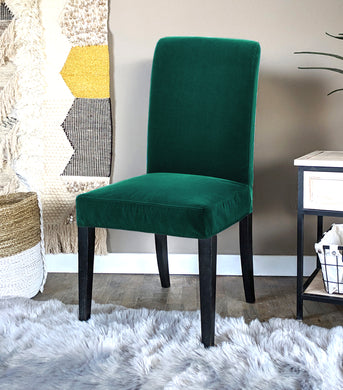 IKEA Henriksdal Dining Chair Cover, Hunter Green Velvet