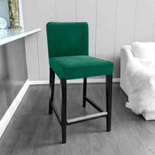Load image into Gallery viewer, IKEA HENRIKSDAL Bar Stool Chair Cover, Dark Green Velvet