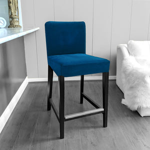 IKEA HENRIKSDAL Bar Stool Chair Cover, Navy Blue Velvet