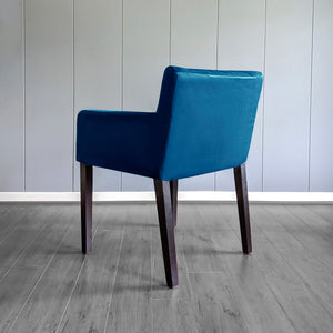 IKEA NILS Navy Blue Velvet Chair Cover