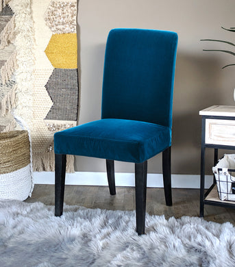 IKEA Henriksdal Dining Chair Cover, Navy Velvet