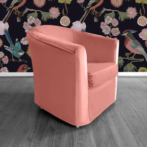 Blush Pink Velvet IKEA TULLSTA Chair Cover