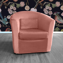 Load image into Gallery viewer, Blush Pink Velvet IKEA TULLSTA Chair Cover