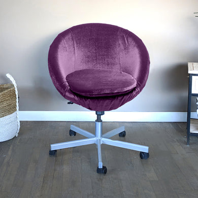 Purple Velvet IKEA SKRUVSTA Chair Slip Cover