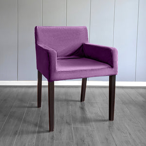 IKEA NILS Purple Velvet Chair Cover