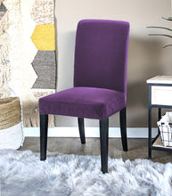 Load image into Gallery viewer, IKEA Henriksdal Dining Chair Cover, Purple Velvet