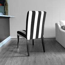Load image into Gallery viewer, IKEA Henriksdsal Dining Chair Cover, Black White Cabana Stripe