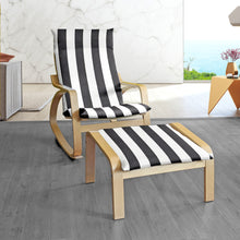 Load image into Gallery viewer, Black White Cabana Stripe IKEA POÄNG