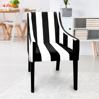 IKEA SAKARIAS Dining Chair Cover, Black Stripe