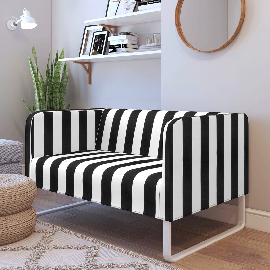Black White Stripe IKEA KNOPPARP Sofa Cover