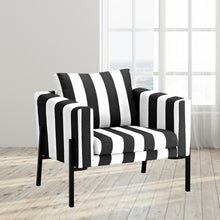 Load image into Gallery viewer, IKEA KOARP Armchair Cover, Black White Stripe