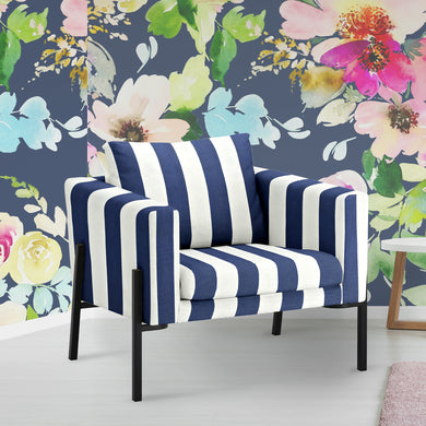 IKEA KOARP Armchair Cover, Navy Blue Stripe