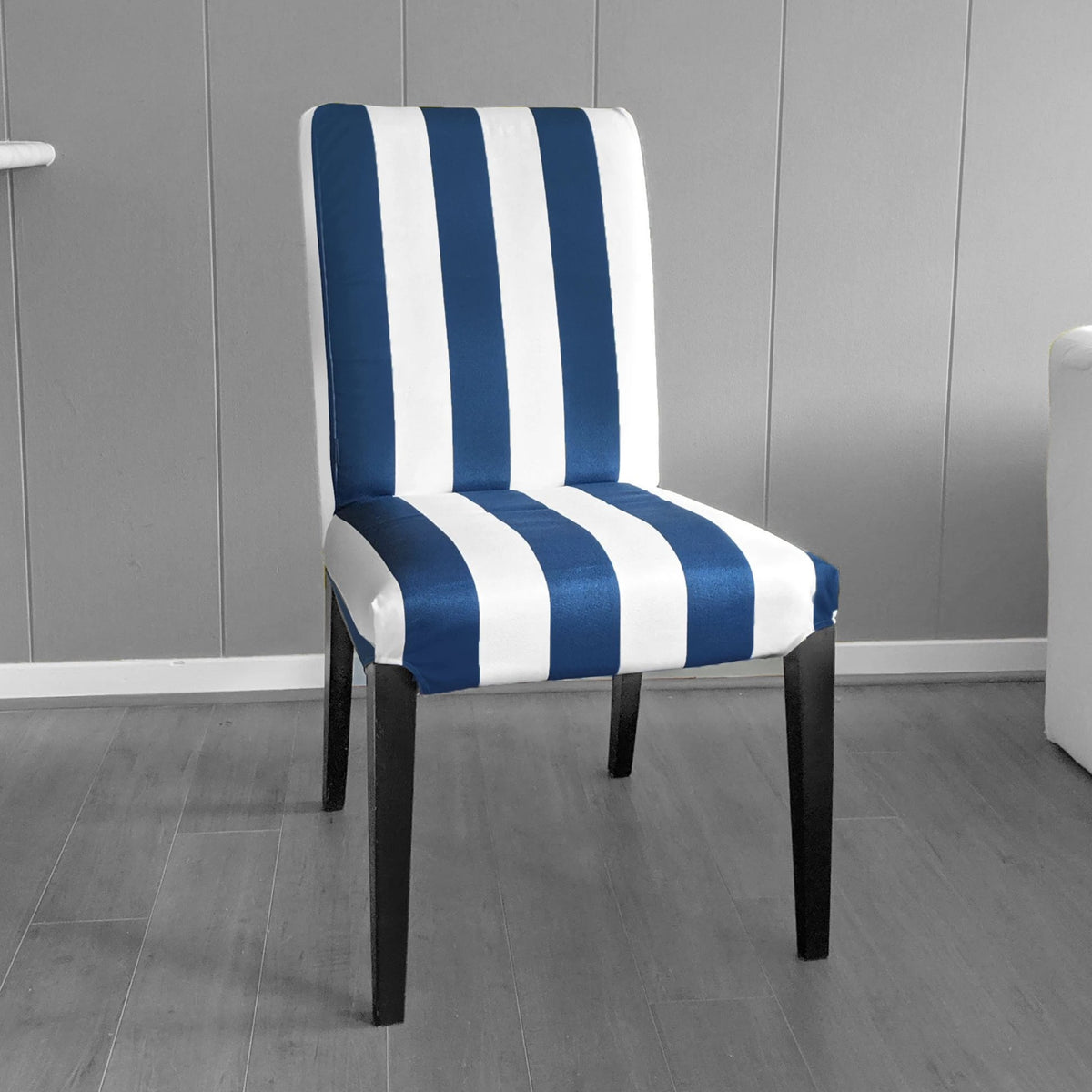 Picture of: Ikea Henriksdsal Dining Chair Cover Navy Blue Cabana Stripe Affordable Designer Custom Handmade Trendy Fashionable Locally Made High Quality