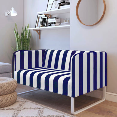 Navy Blue White Stripe IKEA KNOPPARP Sofa Cover