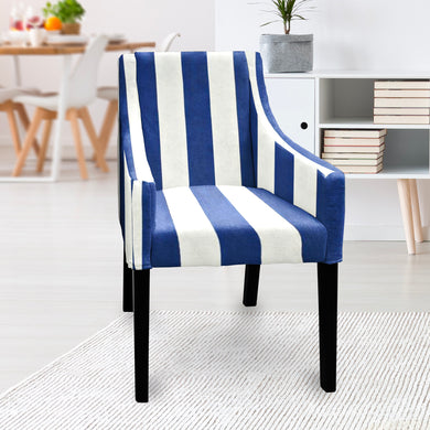 IKEA SAKARIAS Dining Chair Cover, Navy Blue Stripe