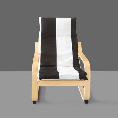 Wide Vertical Black White Stripe IKEA KIDS POÄNG Cushion Slip Cover