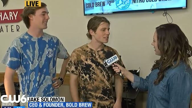 We're Live! : CW6 San Diego Features Bold Brew Coffee