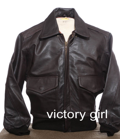 A2 Style Leather Flight Jackets & Aircraft Panels