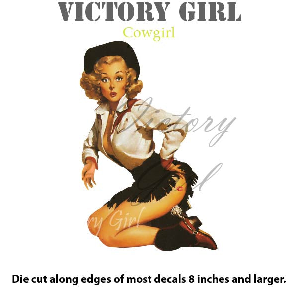 D1020 Cowgirl Nose Art Victory Girl