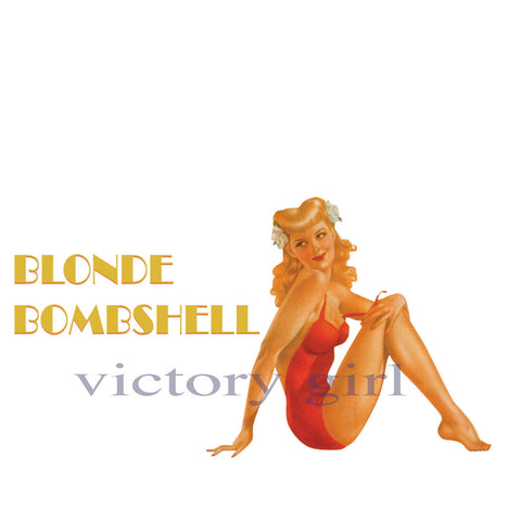 D1064 Blonde Bombshell Nose Art