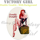 D1073.1 Double Trouble Nose Art With Background