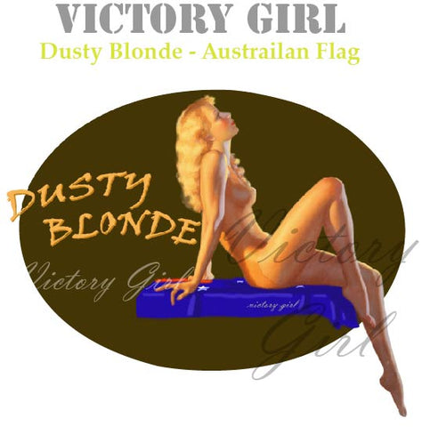 D1074 Dusty Blonde Nose Art- Australian Flag