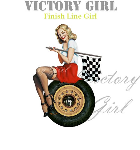 D1077LR  Finish Line Girl- No Background