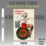 D1078 Finish Line Girl - with Text & Background